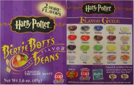 harry potter jelly beans flavors. Harry Potter jelly bean